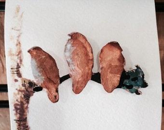 Red Tail Hawk copper lapel pin