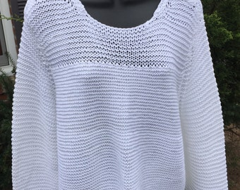 Hand-knit Cotton Spring Sweater