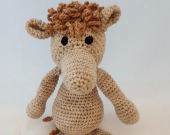 Crochet horse Plush Toy - Amigurumi horse-Organic cotton Baby toy - Toy Pony- Crib Toy