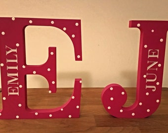 Engraved Wooden Letter, Painted Letter, Personalised Letter, Nursery Decor, New Baby Gift, Kid's Room, Christening, Baby Shower, Mum's Day