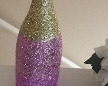 "Ombre ""Pink Lemonade"" Glitter Champagne Bottle"
