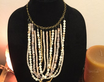 Multi layer shell necklace