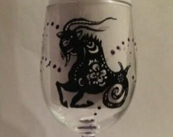 Zodiac Wine Glass