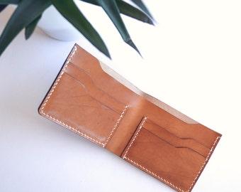 Bifold Wallet in CHESTNUT leather | Slim Wallet