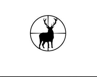 Crosshair likewise Deer Rifle 0009 further Buck sticker further Hunting rifle in addition 75364993744083469. on deer in scope clip art