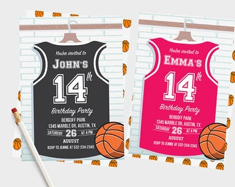 Basketball invitations, Basketball Birthday Invitation, Basketball Invitation, Basketball Invites, Basketball Birthday Invitations, Party,