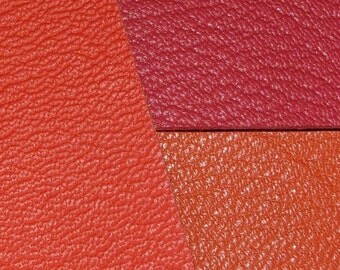 customizable set of 3 genuine leather coupons