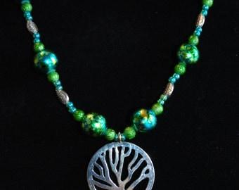 Tree Hugger Beaded Necklace