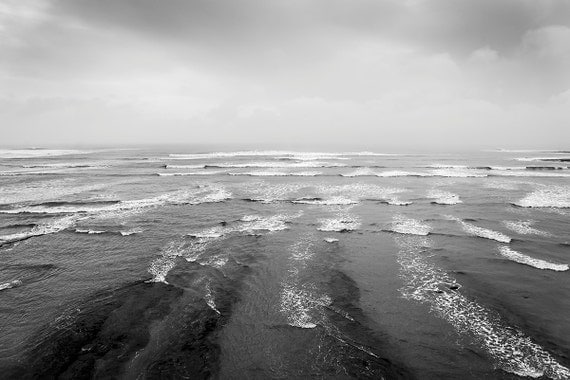 KIMMERIDGE STORM. Seascape, Black and White Print, Kimmeridge Bay, Dorset art, Photographic Print, Limited Edition Print