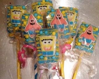 SpongeBob Rice Krispie pops - 1 dozen