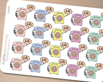 Telephone || Call Reminder Planner Stickers Perfect for Erin Condren, Kikki K, Filofax and all other Planners