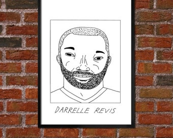 Badly Drawn Darrell Revis - New York Jetsposter / print / artwork / wall art