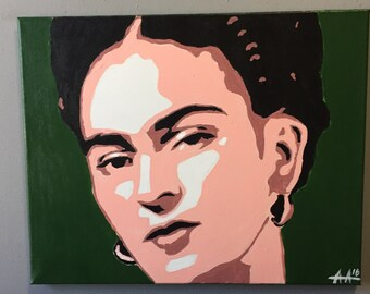Frida Kahlo Pop Art Painting 16x20