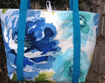Spring blue tote
