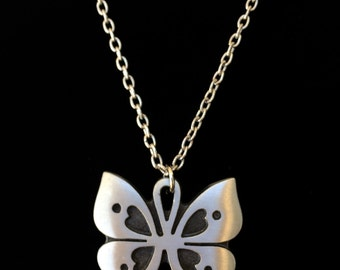 Vintage Tennesmed Sweden Butterfly Necklace