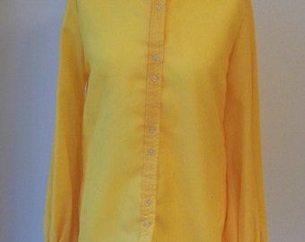1970s gold blouse size 12