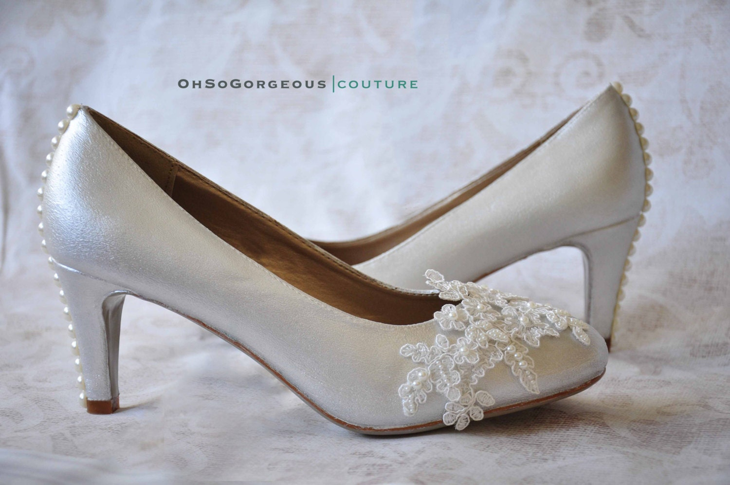 Lace Wedding Shoes Lace Bridal Shoes White Wedding Shoes Low