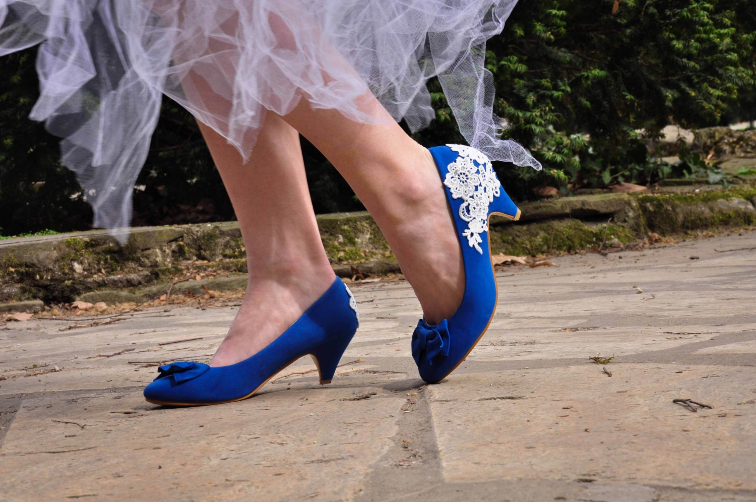 Wedding shoes blue wedding shoes royal blue low heels