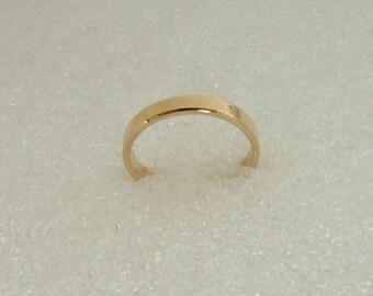 Gold wedding band-yellow gold wedding band-9 carat wedding band-wedding band-flat top wedding band