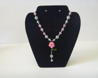 Rose/ Floral necklace