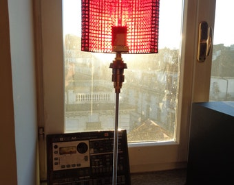 ALA 10 Table lamp industrial recycled materials optical coloured light plexiglass