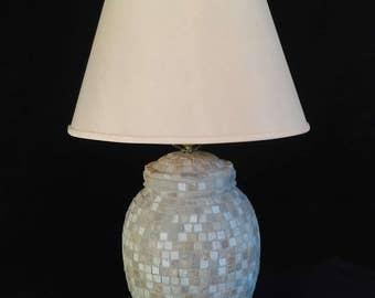 Natural Stone Mosaic Lamp,lighting,home lighting,table lamp,desk lamp,office lamp,living room,decor,handmade lamp,modern lamp,handcrafted