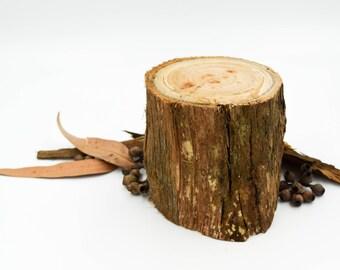 """4"""" Wood Stump, Tree Stump, Mini stump, Stringybark Stump, Rustic Decor, Rustic Wedding Tree Stump, Wood Log, StringybarkSupplies"""