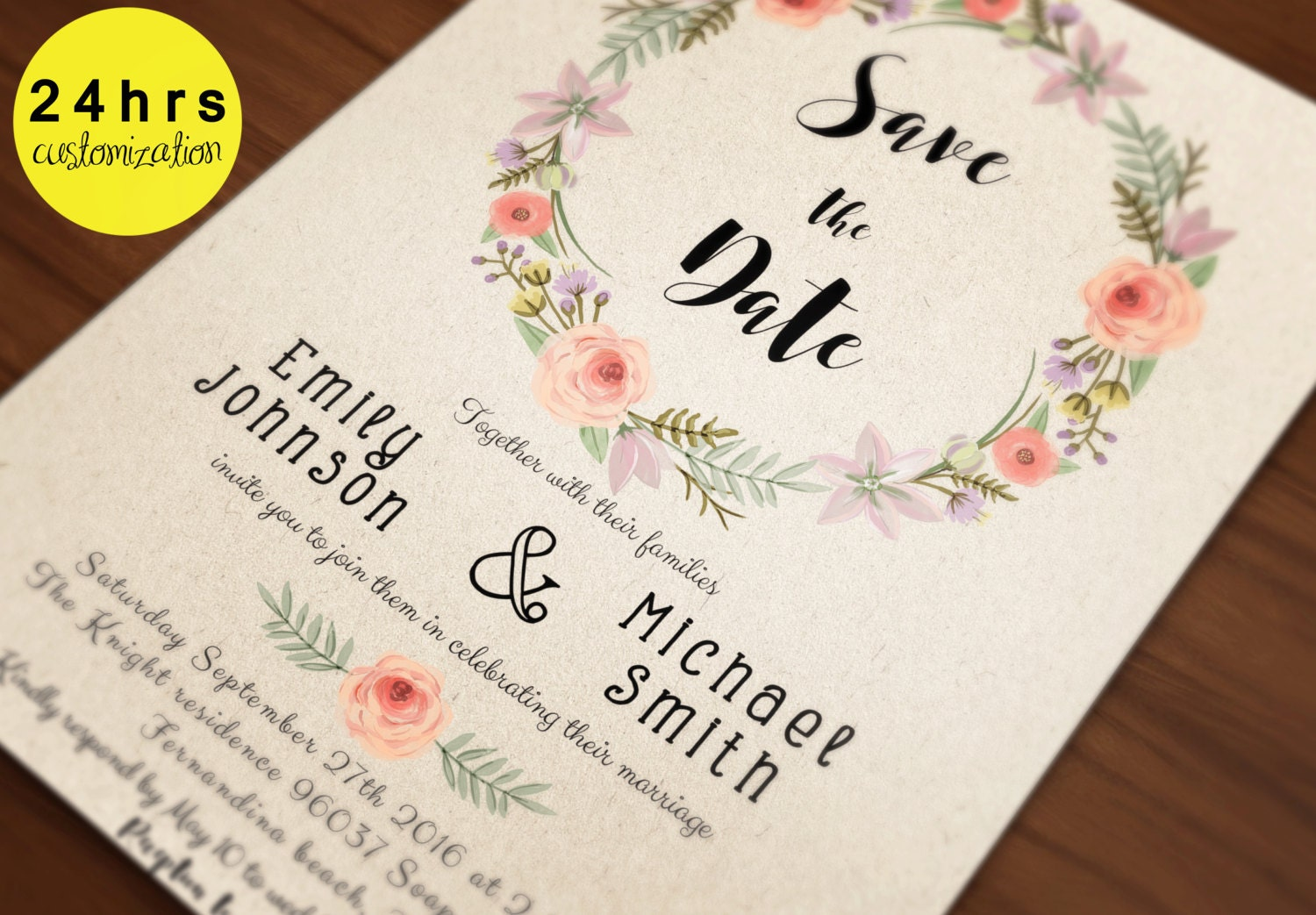 save the date template save the date printable by sunnyprint