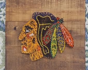Chicago Black hawks string art