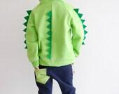 Dinosaur hoodie, dinosaur jumper, dinosaur sweater, Dino hoodie with spikes, dinosaur birthday hoodie, dinosaur sweatshirt, dinosaur gift