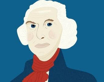 George Washington Illustration Print