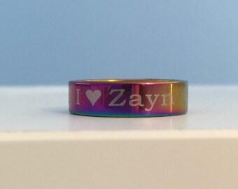 I <3 Zayn Ring