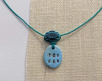 You Can Words Boho Necklace, Christmas Gift, Stocking Stuffer, Inspirational Jewelry, Word Pendants
