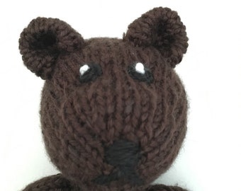 Organic Teddy - Organic Teddy Bear - Stuffed Animal - Waldorf Bear - Knitted Stuffed Toy