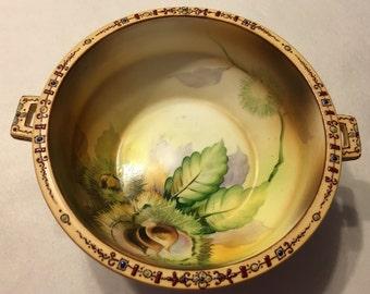 Vintage Beautiful Antique Nippon Moriage Bowl