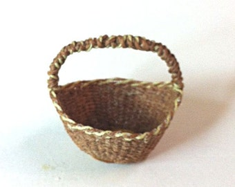 OOAK hand-woven miniature basket