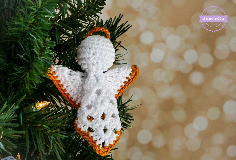 crochet granny square angel christmas ornament pattern by sewrella. Black Bedroom Furniture Sets. Home Design Ideas
