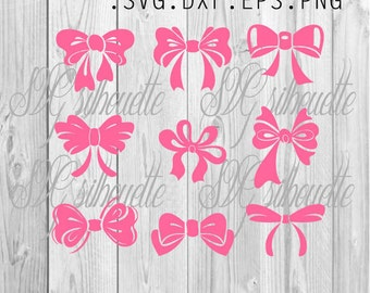 Bows SVG Cutting file, Vinyl design, Vector bows, png, svg,  eps, dxf files for Silhouette, Cricut