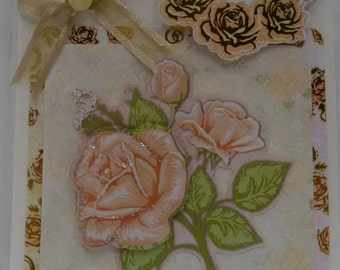 Rose 3D Blank Greeting Card - card2card