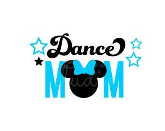 Dance Mom Cheer Mom Dad Vinyl Decal / Dancer Mom Mickey Minnie Mouse Disneyland Team Disney Iron On Decal for Shirt Competition 029