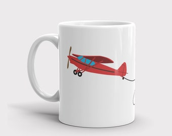 Aviation Mug, Gifts for Pilots, Christmas Gift, Custom Airplane Mug, Aviation Gifts, Airplane Mug, Pilot Mug, Personalized Mug