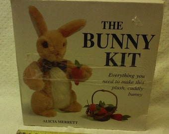 The Bunny Kit, all meterials and W/ Large instruction Book with Multiple patterns for making Bunnies