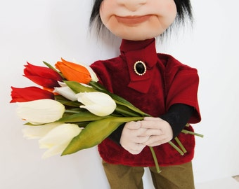 The Charming Admirer  - Exclusive Handcrafted Artist Doll with character :)