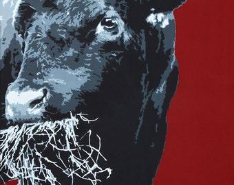 """20x24 inch bull print - """"Edgar"""""""