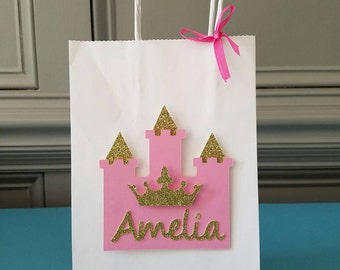 Personalized Princess Party favor bags(set of 12)