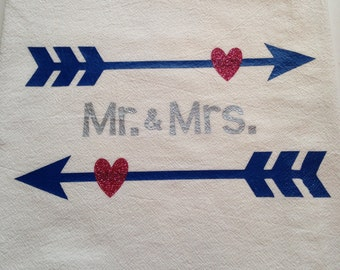 Mr. and Mrs. dish towels