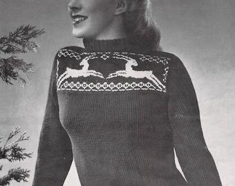 Vintage Knitting Pattern PDF - Antelopes