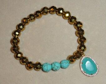 Gold Hematite Bracelet