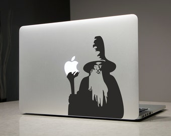 Gandalf Lord of the Rings - Macbook Decal Sticker Laptop Vinyl Decals Stickers Apple Mac Pro Air Handmade Gifts Christmas Gift