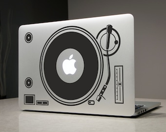DJ Station Macbook Decal Sticker Laptop Vinyl Decals Stickers Apple Mac Pro Air Handmade Gifts